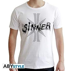 ABYstyle - Camiseta de Manga Corta para Hombre, Color Blanco