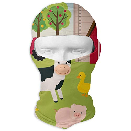 Farm Animals Winter Hiking Full Face Mask UV Protection Head Hood for Men and Women -
