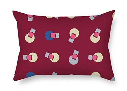 slimmingpiggy Colorful Geometrie Weihnachten Kissen 50,8x 76,2cm/50von 75cm Geschenk oder Dekor für Bar Sitz Büro Play Raum Teens Jungen Boden GF–Jeder Seite