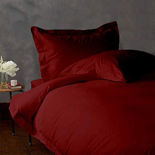 Authentic Bio Baumwolle Bettlaken-Set passend für Matratzen bis 38,1cm Tief 1000TC, baumwolle, burgunderfarben, Oly. Queen (1000 Tc Blatt)