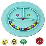 Babylovit BPA-freier und Rutschfester Kinder Teller – geprüfter Esslernteller mit