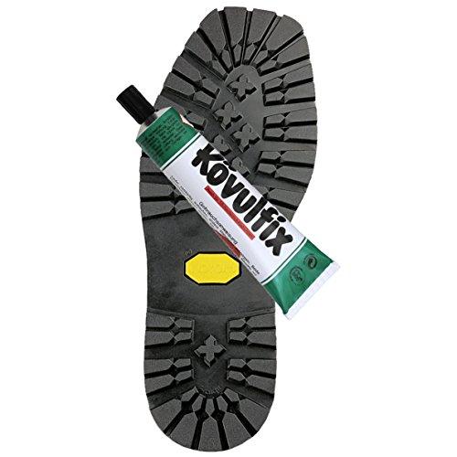 Unbekannt Vibram Langsohle mit Absatz Vibram 1136 + Kövulfix 60g Schuhkleber zur optimalen Schuhreparatur (41/42)