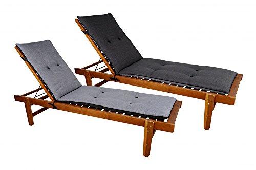 Vida Auflage Polster Sonnenliege Gartenliege Rollliege Relax bicolor zweifarbig 180 x 50 cm versch.
