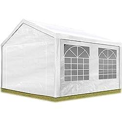 TOOLPORT Tente de réception 3x4 m pavillon Blanc bâche PE épaisse de 180 g/m² imperméable Tente de Jardin