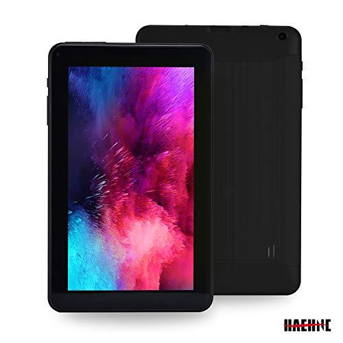 Haehne 9 Pollici Tablet PC, Google Android 6.0 Quad Core, 1.3GHz, 1GB RAM 16GB ROM, Doppia Fotocamera, WiFi, Bluetooth, per Bambini e Adulti, Nero