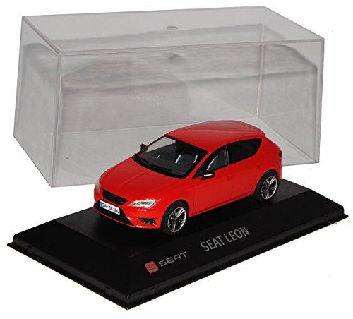 Seat Leon Cupra 280 Rot 5 Türer Ab 2012 1/43 Modellcarsonline Modell Auto mit individiuellem Wunschkennzeichen