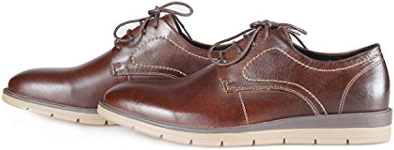 Zapatos De Cuero para Hombres Zapatos Casuales Zapatos De Cordones para Hombres Bajos -