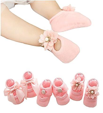 Santwo - Chaussette - Bébé (fille) 0 à 24 mois Taille Unique - rose - Taille Unique