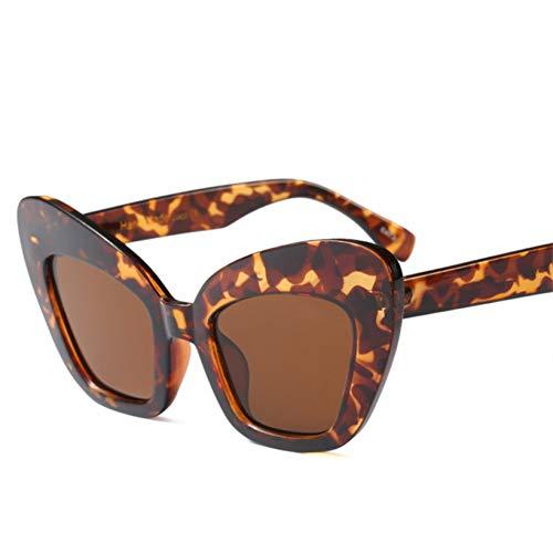 YOURSN Big Frame Schmetterling Sonnenbrille Frauen Retro Pink Leopard Schwarz Vintage Red Cat Eye Sonnenbrille Für Frauen Uv400-3Leopard