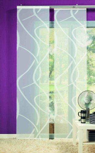 Wohnideenshop Flächenvorhang Vegas weiss transparent 60cm breit x 245cm lang inkl. Zubehör und andere Muster zum auswählen Pepper Las Vegas