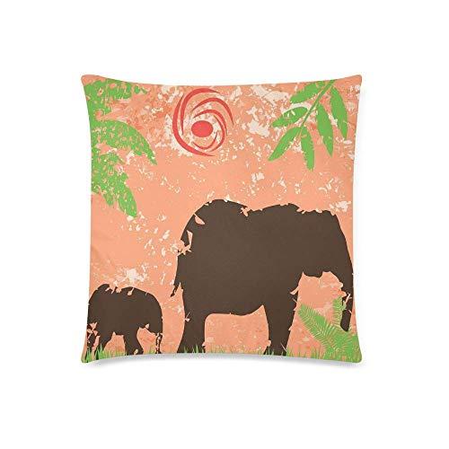 KOLATREE - Fundas de cojín Decorativas, diseño de Elefantes y bebé, Color...