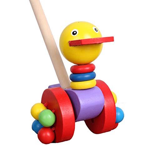 utter Spielzeug Ente Cartoon Tier Warenkorb Holzkarren Puzzle manuelles Spielzeug 6 niedliche Spielzeuge geeignet für 1-3 Jahre alte Kinder ()