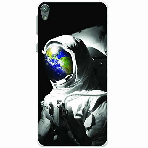 Astronautenanzug & Spiegelbild der Erde Hartschalenhülle Telefonhülle zum Aufstecken für Sony Xperia E5