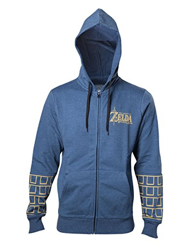 Preisvergleich Produktbild Zelda Breath of the Wild Hoodie -L- Gold Game Logo