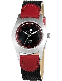 Just Watches Unisex-Armbanduhr Analog Quarz Textil 48-S0011-RD