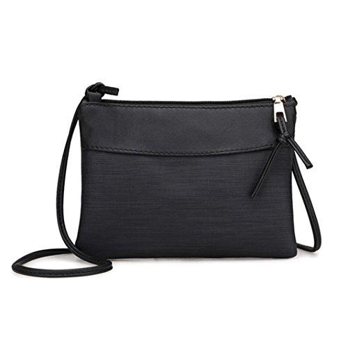 Ultra Dünn Retro Schulter Tasche HARRYSTORE Damen Bote Taschen Tote Handtasche (Schwarz)