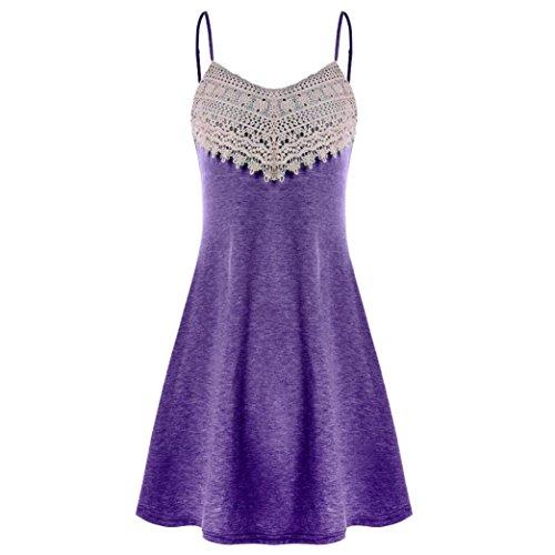 Luckycat 2018 Mode Frauen Häkelspitze Backless Mini Slip Kleid Leibchen Ärmelloses Kleid Mode 2018