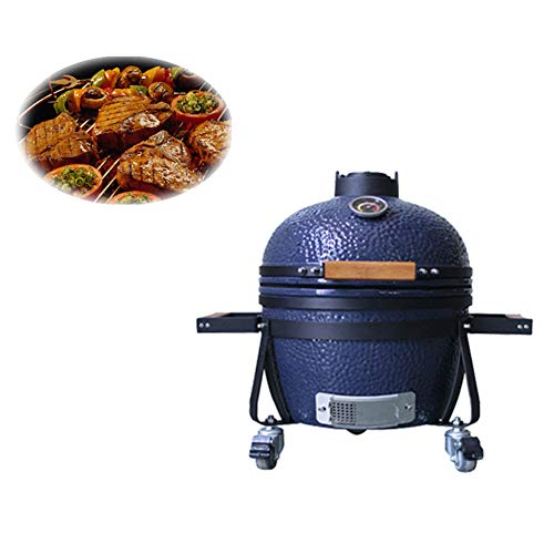 NBZH Ceramic BBQ Smoker with Cart,Blue