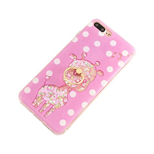 iPhone 6/6S Hülle - 3D Kreatives Design Luxus Shiny Flow Sand Entzückende Fließende Schwimmende Moving Shiny Glitzer Sequins Bling Cute Pattern Shell für iPhone 6/6S - Girl Boss 8-C