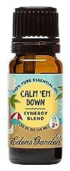 Calm Em Down OK For Kids Synergy Blend Essential Oil by Edens Garden - 10 ml (Douglas Fir, Petitgrain, Lavender, Sweet Orange, Vetiver, Damiana and Vanilla)