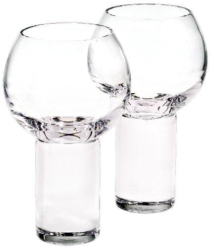 2ér-Set Weinglas, Weinkelch, Römer Glas BORIS, transparent, massives Glas, moderner Style (GERMAN...