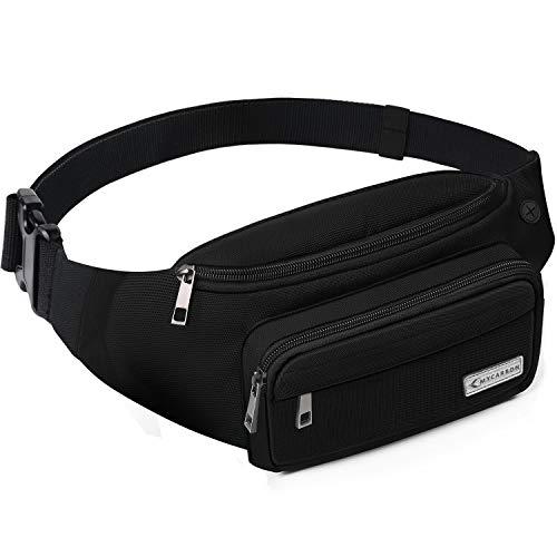 MYCARBON Bum Bag Large Capacity,Non-bounce Travel Waist Pack,Non-slip Cotton Belt Waist Bag for Women...