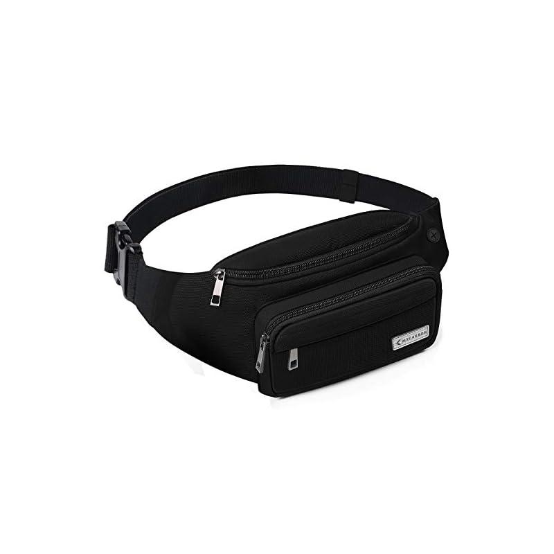 MYCARBON Bum Bag Large Capacity,Non-bounce Travel Waist Pack,Non-slip Cotton Belt Waist Bag for Women Men,Durable Waist…
