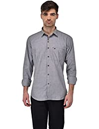 Sting Grey Solid Full Sleeve Casual Shirt