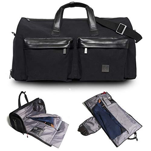 James Hawk JAMES HAWK Suit Weekender Tasche Hochwertige Garment Reisetasche für Anzug & Hemd   Premium Geschenk für Herren   Canvas Handgepäck und Kleidersack mit Schuhfach