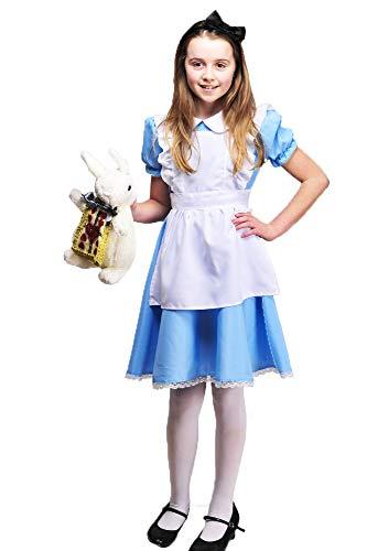 Klassischen Kostüm Charaktere Buch Kinder - Magic Box Int. Kinder traditionelle Blaue Wunderland Alice Kostüm Large 8-10 Years