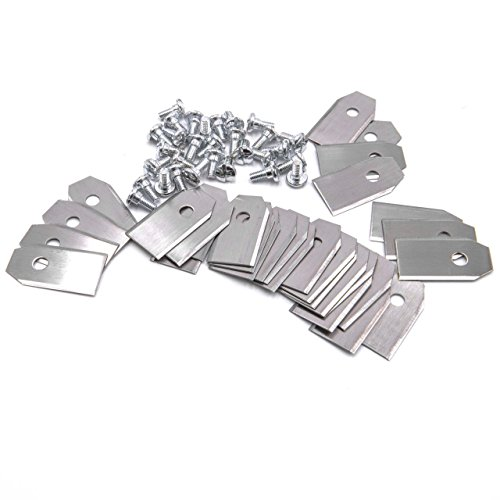 vhbw 30x Messer Klingen passend für Husqvarna Automower 105 108 210C 220AC 305 308 308x 310 315 320 330X 420 430X 440 450X G1 G2 uvm - (Stahl, 0.75mm) -