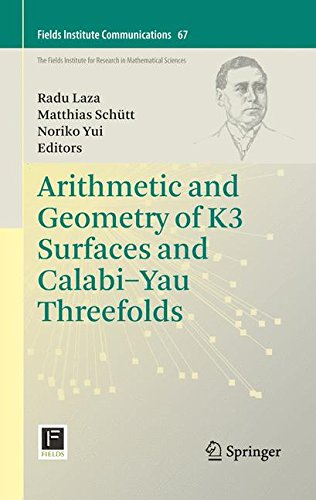Arithmetic and Geometry of K3 Surfaces and Calabi-Yau Threefolds (Fields Institute Communications, Band 67)