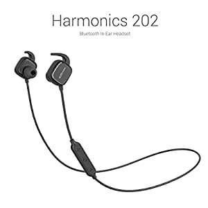 Portronics Harmonics 202 (Black) In-Ear Stereo Headphone With Smart Magnetic-Switch, Latest 4.1 Bluetooth, In-Line Microphone