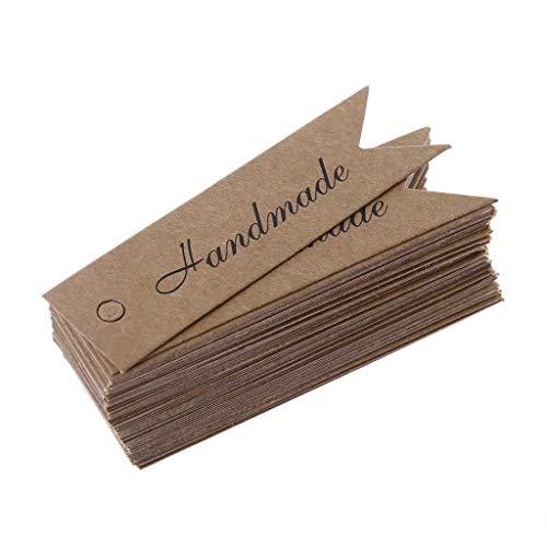 Lamdoo 50xKraft Paper Fallumbau Schwalbenschwanzform Verpackung Geschenk Lesezeichen Verpackung Dekor