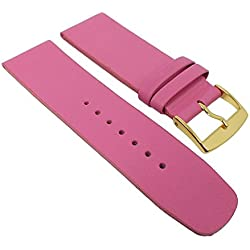 Graf Manufaktur Spree Replacement Watch Strap Leather Band Women's Pink 27093G; Bridge Width: 26 mm