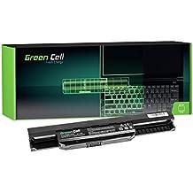 Green Cell® Standard Serie A32-K53 A41-K53 Batería para Asus K53 K53E K53S K53SJ K53SV K53U X53 X53S X53SV X53U X54 X54C X54F X54H X54L Ordenador (4 Celdas 2200mAh 14.4V Negro)