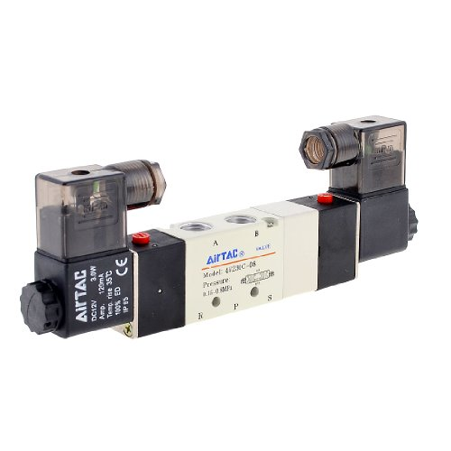 4 V230 C-08 DC 12 V 2 Positionen 5 Way Air Pneumatik Ventil DC 12 V 48 MA
