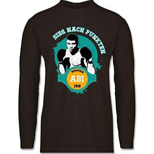 Shirtracer Abi & Abschluss - Muhammad Abi - Sieg Nach Punkten 2018 - Herren  Langarmshirt Braun. Das langärmelige Shirt ...