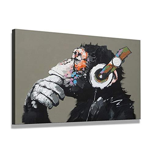 Inicio Decoracion fotos 1 piezas gracioso pensar Mono