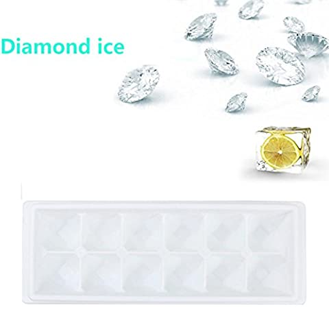 erthome New Diamonds Gem Cool Ice Cube Chocolate Soap Tray Fodant Moulds