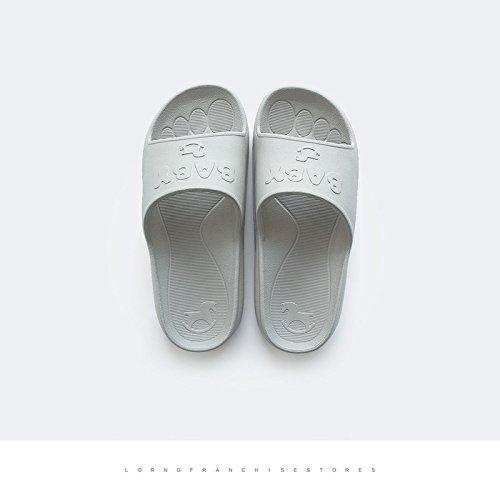 DogHaccd pantofole,Le stanze da bagno sono in estate home ciabatte di plastica femmina interni home morbida antiscivolo coppie bagno cool pantofole maschio Bambino - Grigio1