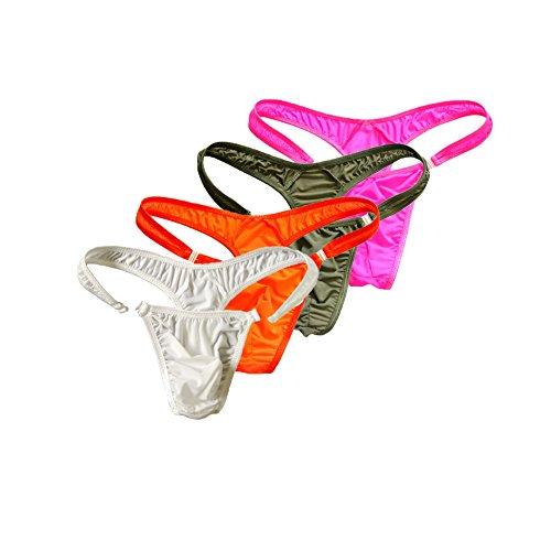 XinGe Herren Bikini Boxer Briefs G String Unterwäsche Shorts Free Size Pack of 4-c