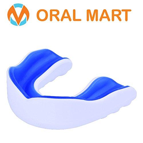 Oral Mart im Mund Guard für Erwachsener - Jugend Mundschutz für Karate Erwachsener (Alter 11 & up) Weiß/Blau