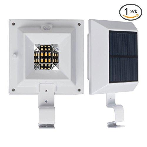 250LM LED PIR Sensor Solarlampe Drahtlos Warmweiß 2800K Solarleuchte Solar Leuchte Lampe mit Bewegungsmelder Wasserdicht Sicherheit Licht für Garten, Outdoor, Terrasse, Haus, Auffahrt, Treppen, Zaun (Outdoor-pir-licht)