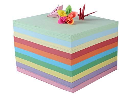 Schulbriefpapier 200 Blätter 15 x 15 cm Multicolor Origami Papier Papier Handwerk Papier falten Briefpapier-Werkzeug