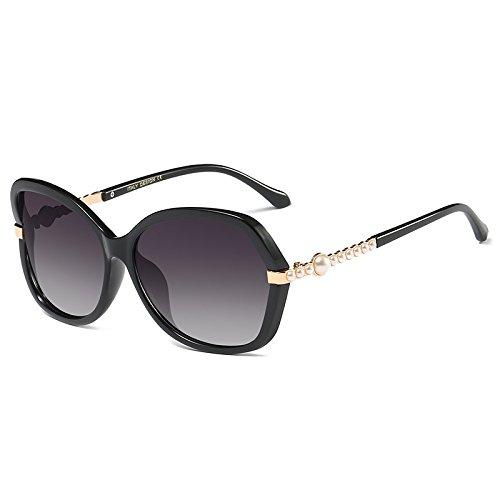 Die Neue sunyan Hochglanz Sonnenbrille rundes Gesicht Sonnenbrille Frau tide Sterne, Gläser mit einem quadratischen Gesicht, rote Augen, hell, Schwarz