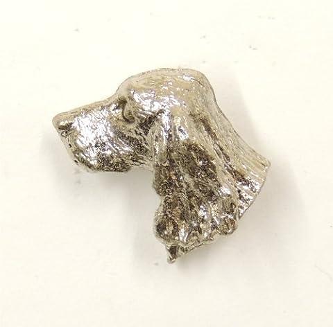 Cocker Spaniel Lapel Pin Brooch Silver Finish
