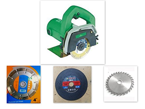 Agni/prithvi Powerful cutting machine (1200 W) (11000 RPM) (110 mm) for wood/marble/tile/granite/metal cutting Free 3 wheels 41hzw1w7wtL