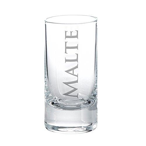 Schnapsglas mit Gravur - Personalisiert mit [Wunschnamen] ? Shotglas ? originelle Geschenkideen ? Geschenke für Männer und Frauen - Höhe: ca. 8 cm - Füllmenge: ca. 5,7 cl