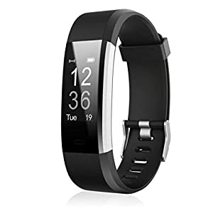 ID 115HR Plus Smart Wristband Sports Heart Rate Smart Band Fitness Tracker (Negro) 1